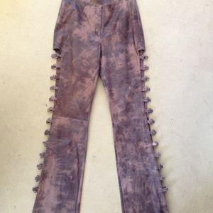 Vintage Leather O-Ring Mad Max Pants